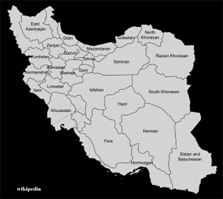 Province Map of Iran
