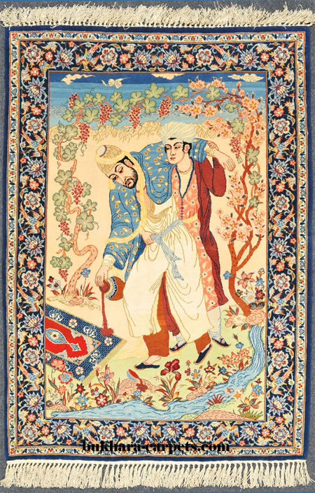 Isfahan Pictorial Rug 1980