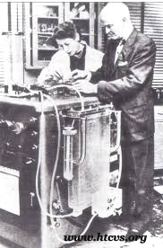 John & Mary Gibbon Working on Heart-Lung Machine