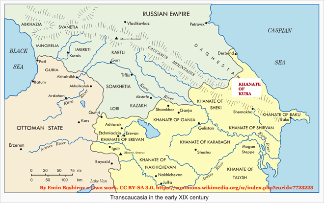 Khanate of Kuba Map