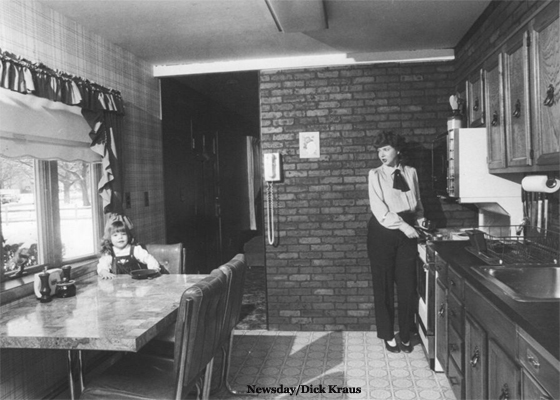 Kitchen in Remodeled Home in Levittown - 1985