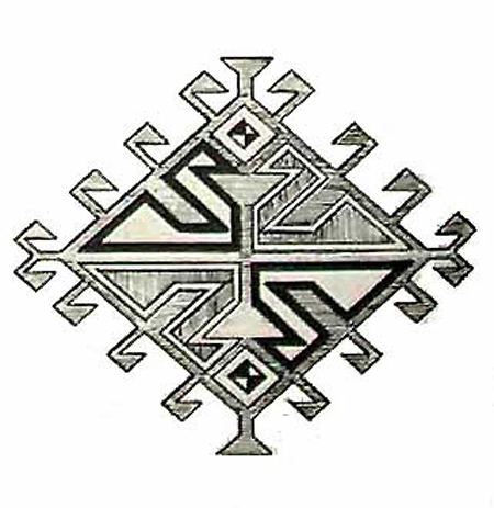Lozen Lattice Baluchi Motif
