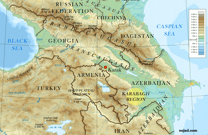 Map of Karabagh Region