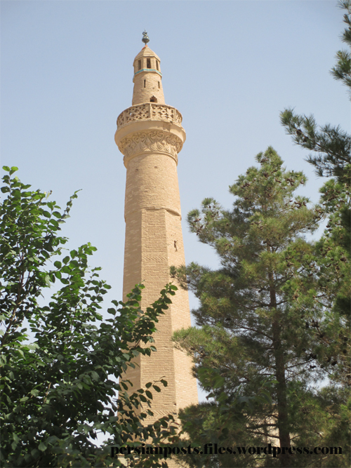 Minaret of Old Mosque in Nain, Iran