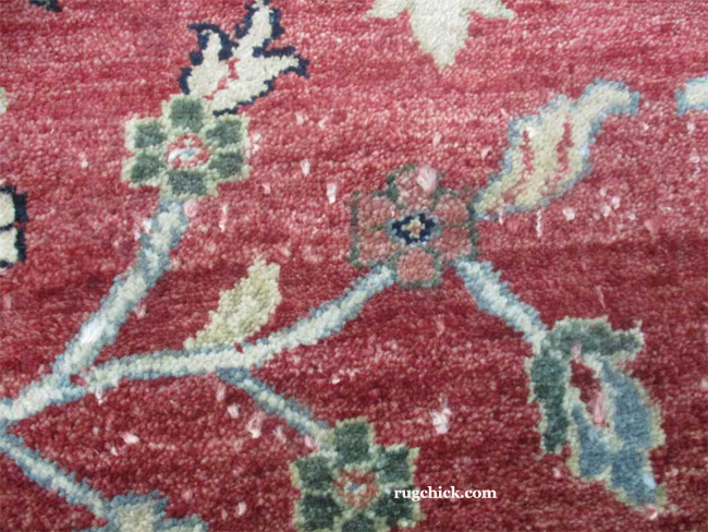 Poor Rug Shearing on Good Quality Rug