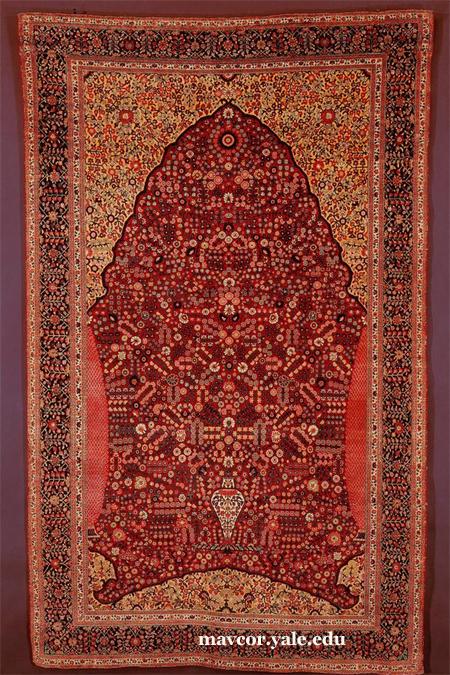 Prayer Rug with Flower-Filled Niche