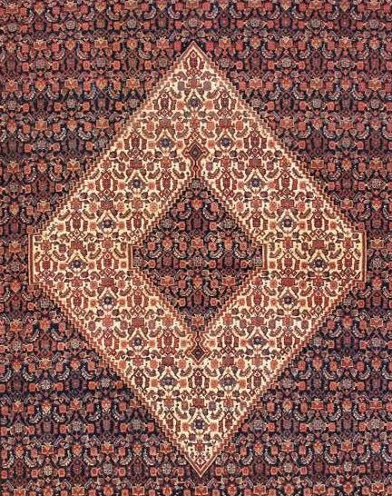 Rhomb (Diamond) Design in Rug FIeld