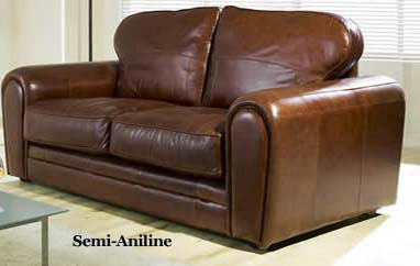 Semi-Aniline Leather Sofa