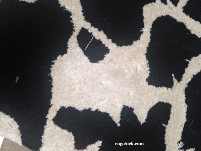 Poor Quality Rug Shedding Fibers