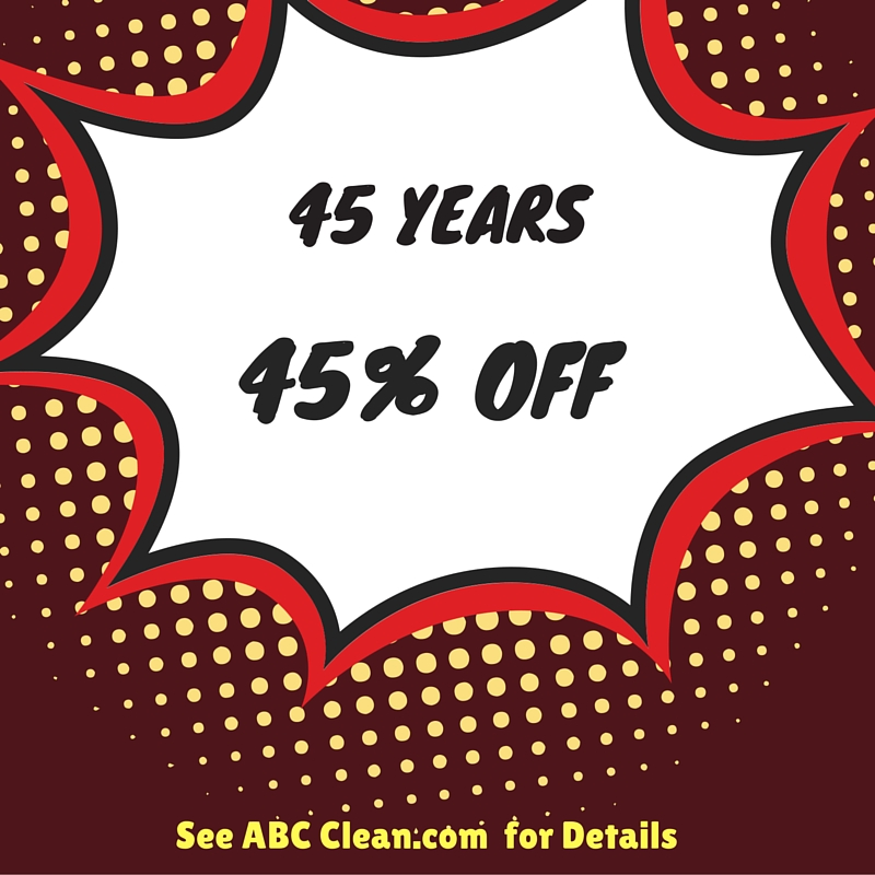 45 years 45% off