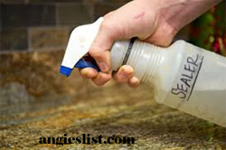 Granite Sealer in Spray Bottle