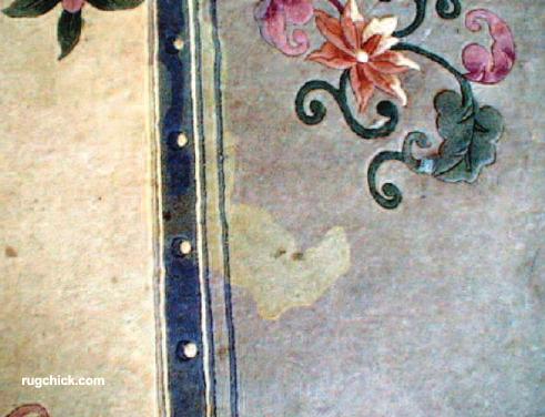 Spotting Damage on Chinese Rug