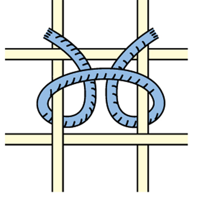 Ghiordes or Turkish Symmetric Knot
