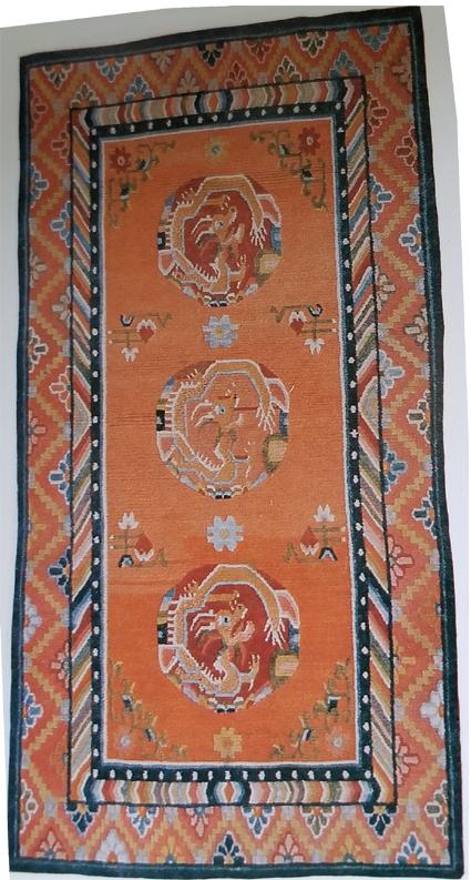 Tibetan Dragon Medallion Rug