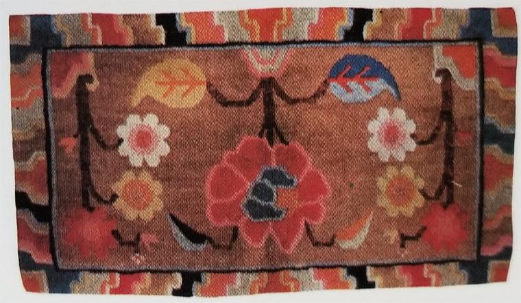 Tibetan Individual Top Saddle Rug With No Matching Bottom Rug