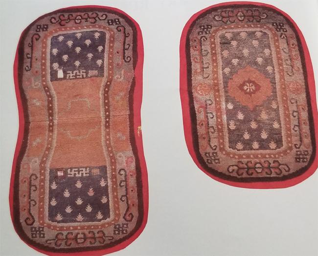 Tibetan Oval Bottom and Top Saddle Rugs