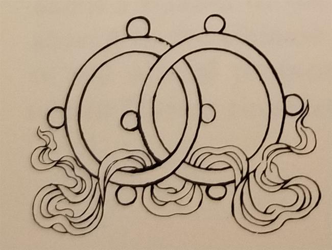 Tibetan Rug Buddhist Symbol-The Interlocked Rings