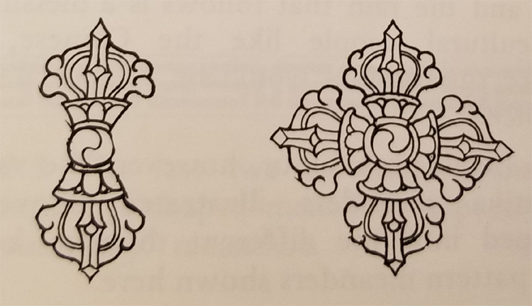 Tibetan Rug Buddhist Symbol-The Thunderbolt