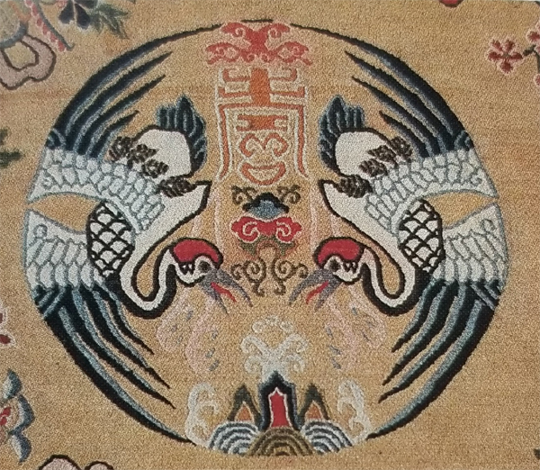 Tibetan Rug Companion of Long Life-Crane Medallion