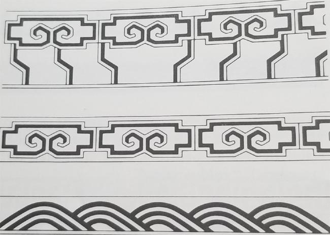 Tibetan Rug Ocean Border Designs