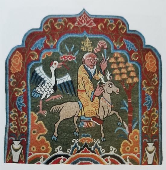 Tibetan Rug-Six Companions of Long Life