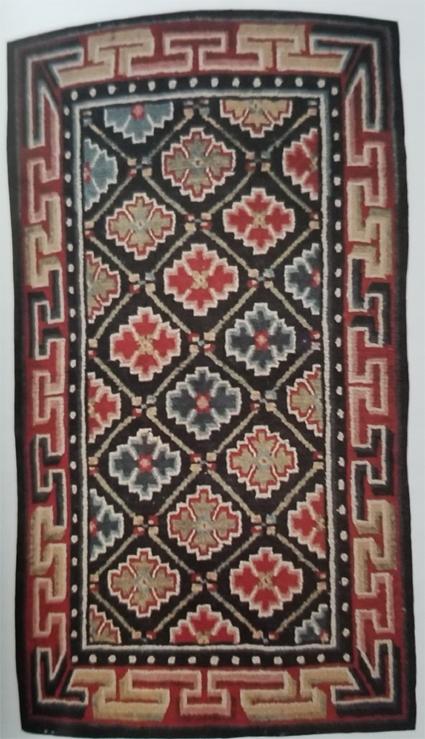 Tibetan Rug With Well-Balanced Geometric Design