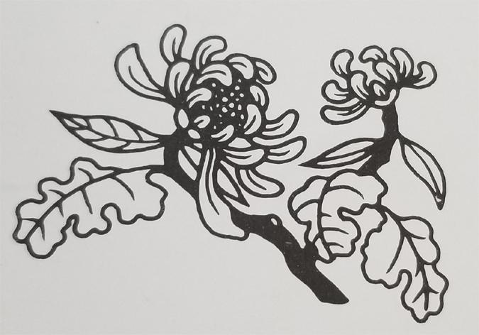Tibetan Rug Design-The Chrysanthemum Flower