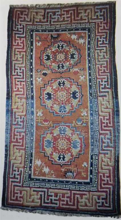 Tibetan Three Medallion Rug