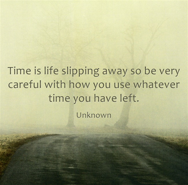 Time is Slipping Quote