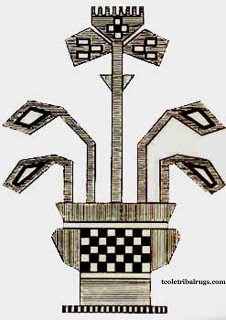 Vase Baluchi Motif