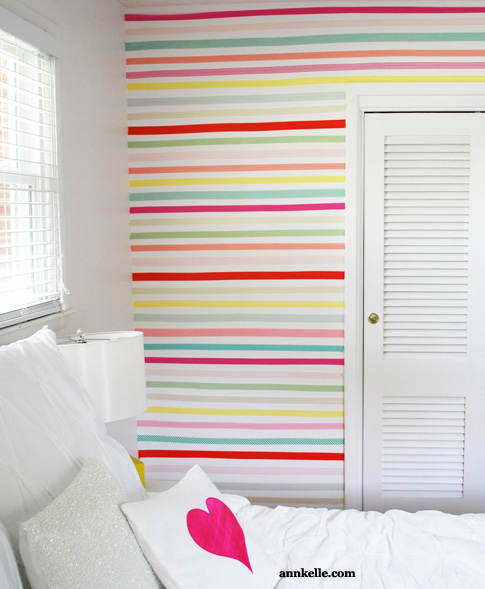 Washi Tape Wall Stripes