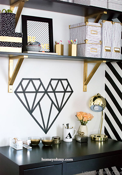 Washi Tape Wall Design
