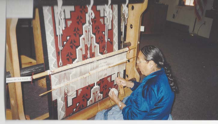 Weaving Ganado Rug