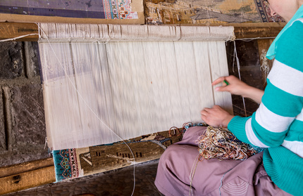 Oriental Rugs Weaving And Finishing The Process For Hand Knotted Pile