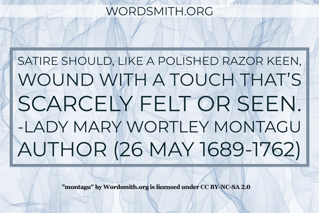 Words of Lady Mary Wortley Montagu
