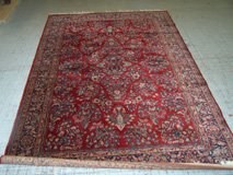 Belgian Machine Made Rug with Sarouk pattern