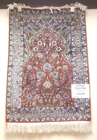 Pakistan Rayon Prayer Rug for Sale