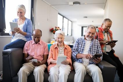 Seniors Enjoying Technology