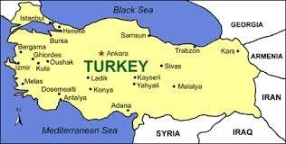 Map of Kars, NE Turkey