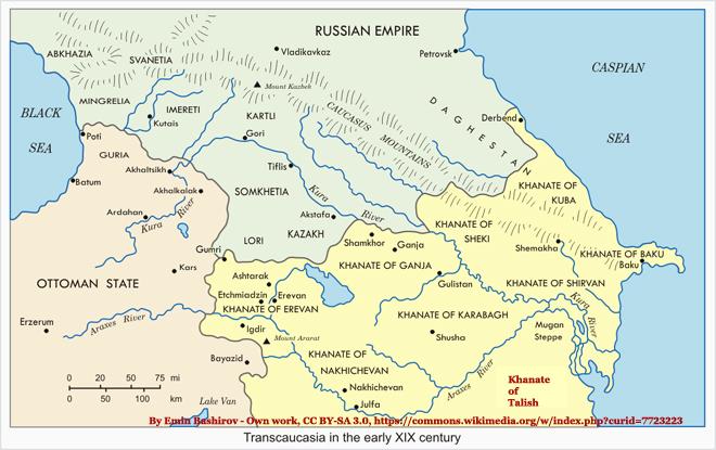 Khanate of Talish Map