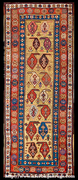 Moghan Rug 1880s with Boteh Motifs