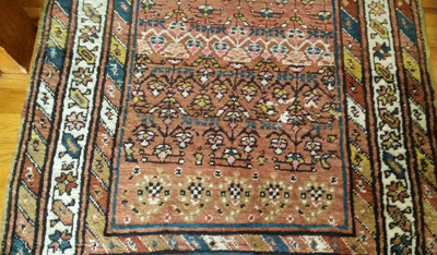 Abrash on Oriental Rug