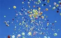 balloons released in air