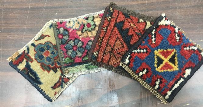 Handmade Oriental Rug Coasters