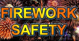 Firework Safety Sign