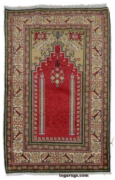 Turkish Kayseri Prayer Rug