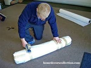 Wrapping a Rug in Tyvek