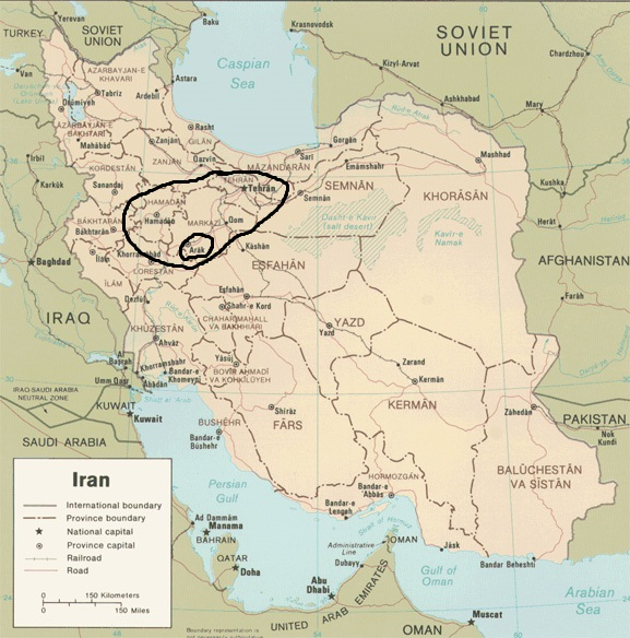 Arak Region of Iran