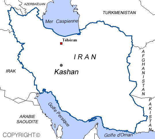 Map of Kashan, Iran