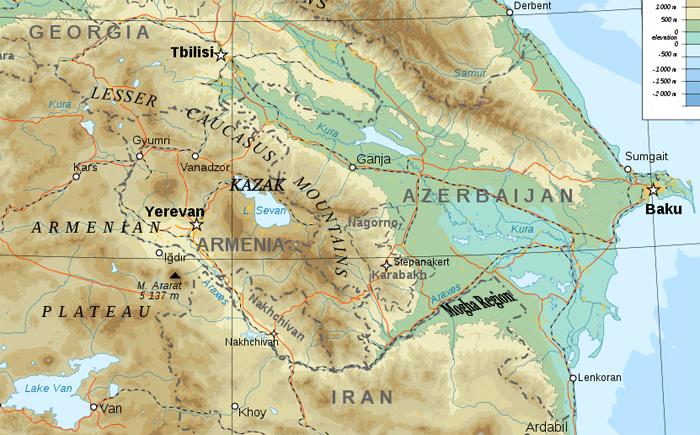 Map of Moghan Region